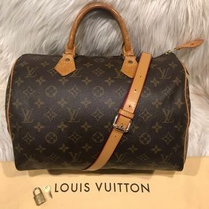 Authentic Louis Vuitton Speedy 30 Tote #3.8L